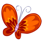 Schmetterling-rot