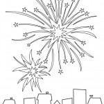 Silvester Feuerwerk Glückssymbole Ausmalbilder
