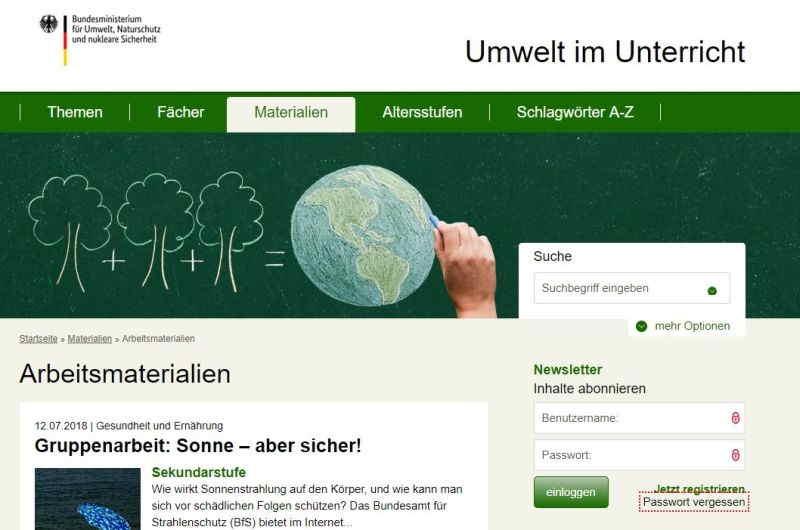 Umwelt im Unterricht
